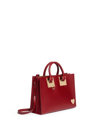 Sophie Hulme - 'Albion' large heart plate soft leather tote