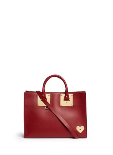 Sophie Hulme'Albion' large heart plate soft leather tote