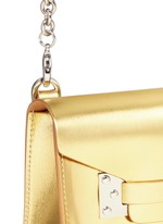 'Milner Nano' metallic leather crossbody bag