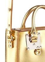 'Albion Square' metallic leather box tote
