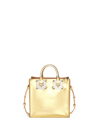 Back View - Click To Enlarge - Sophie Hulme - 'Albion Square' metallic leather box tote