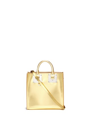 Main View - Click To Enlarge - Sophie Hulme - 'Albion Square' metallic leather box tote