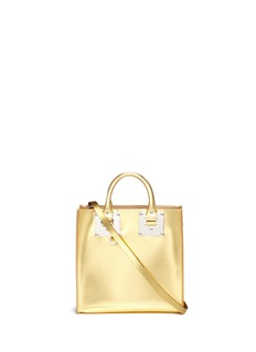 Sophie Hulme 'Albion Square' metallic leather box tote