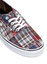 'Authentic' plaid patchwork sneakers