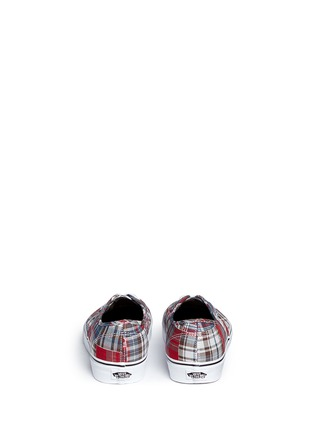 Back View - Click To Enlarge - Vans - 'Authentic' plaid patchwork sneakers
