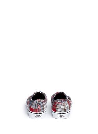 Vans-'Authentic' plaid patchwork sneakers