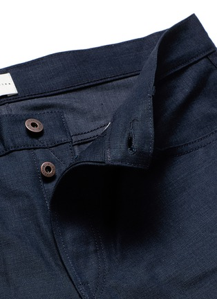 - Simon Miller - 'Gunnison' dark indigo slim cotton jeans