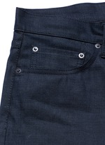 'Gunnison' dark indigo slim cotton jeans