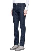 'Gunnison' dark indigo slim cotton jeans
