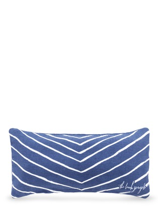 Main View - Click To Enlarge - The Beach People - 'Wander' inflatable insert stripe print beach cushion