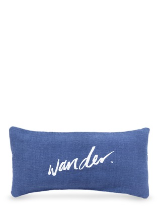 Figure View - Click To Enlarge - The Beach People - 'Wander' inflatable insert stripe print beach cushion