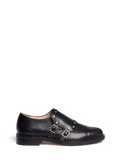 Jimmy Choo 'Berry 30' stud trim monk strap shoes