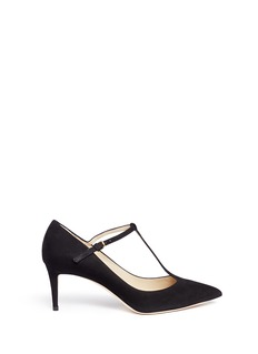 Jimmy Choo 'Daria 65' suede T-strap Mary Jane pumps