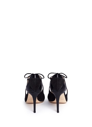Back View - Click To Enlarge - Jimmy Choo - 'Vanessa 85' cutout suede and leather pumps