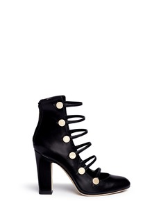 Jimmy Choo 'Venice' button caged leather boots