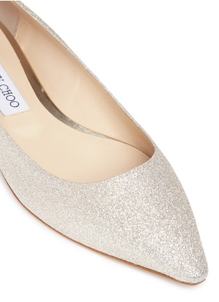 Detail View - Click To Enlarge - Jimmy Choo - 'Romy' glitter skimmer flats