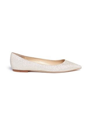 Main View - Click To Enlarge - Jimmy Choo - 'Romy' glitter skimmer flats