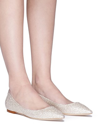 Figure View - Click To Enlarge - Jimmy Choo - 'Romy' glitter skimmer flats