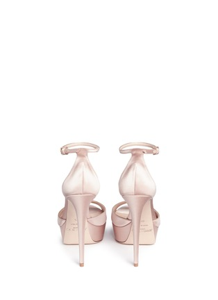 Back View - Click To Enlarge - Jimmy Choo - 'Fantasy 120' detachable embellished clip satin sandals