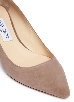 Detail View - Click To Enlarge - Jimmy Choo - 'Romy 40' suede pumps