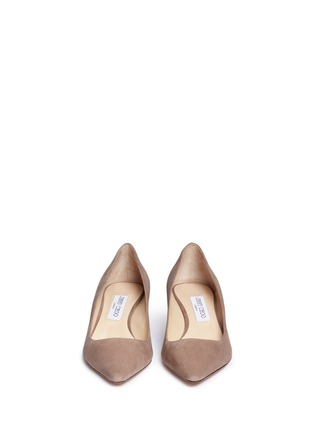 Front View - Click To Enlarge - Jimmy Choo - 'Romy 40' suede pumps