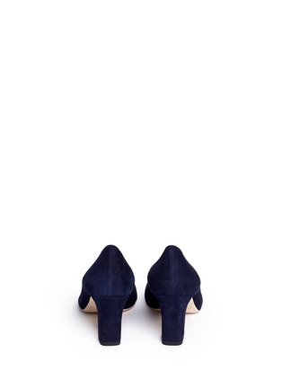 Back View - Click To Enlarge - Jimmy Choo - 'Billie 65' chunky heel suede pumps