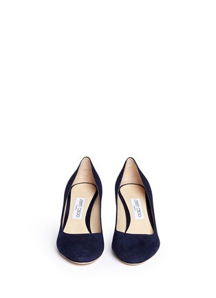 Front View - Click To Enlarge - Jimmy Choo - 'Billie 65' chunky heel suede pumps