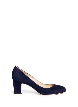 Main View - Click To Enlarge - Jimmy Choo - 'Billie 65' chunky heel suede pumps