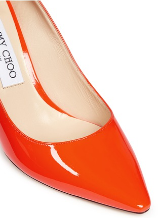 Detail View - Click To Enlarge - Jimmy Choo - 'Romy 85' patent leather pumps