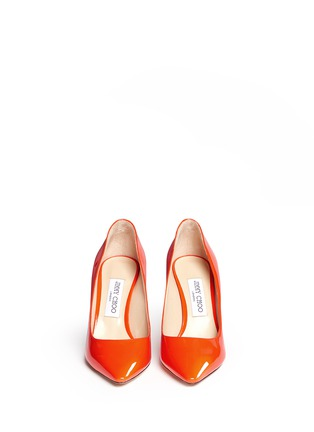 Front View - Click To Enlarge - Jimmy Choo - 'Romy 85' patent leather pumps
