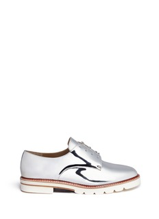 Stuart Weitzman 'Metro' mirror leather Oxfords