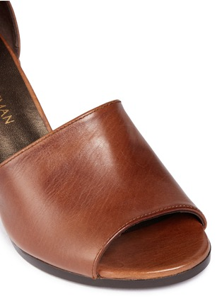 Detail View - Click To Enlarge - Stuart Weitzman - 'Soho Gal' calfskin leather sandals