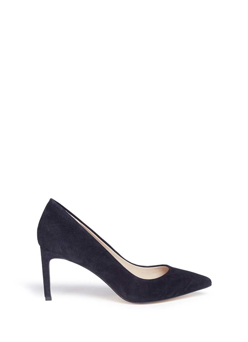 Pointed toe suede pumps by Pedder Red