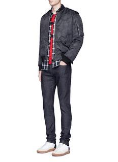 Saint LaurentLow rise raw skinny jeans
