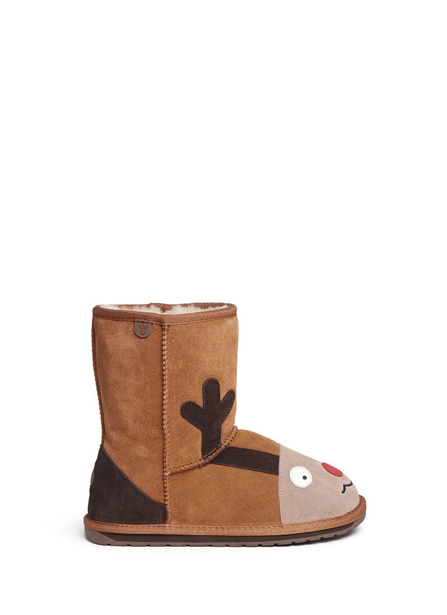 Reindeer suede kids boots by EMU AUSTRALIA
