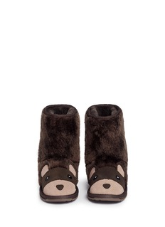 EMU AUSTRALIA 'Brown Bear' Merino wool kids boots