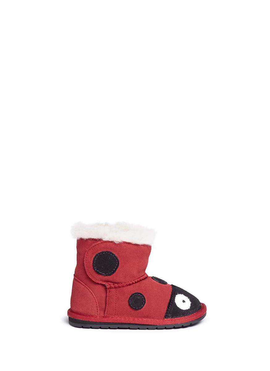 Ladybird Walker suede toddler boots by EMU AUSTRALIA