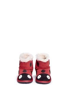 EMU AUSTRALIA'Ladybird Walker' suede toddler boots