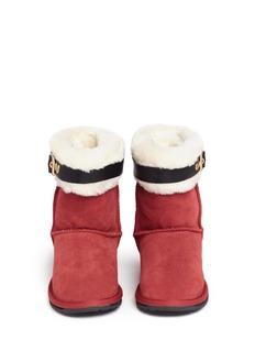 EMU AUSTRALIA'Santa' buckle suede kids boots