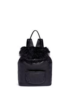 Elizabeth and James'Langley' fur flap leather backpack