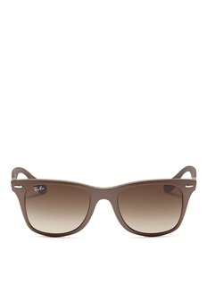 RAY-BAN 'Original Wayfarer' matte metallic acetate sunglasses