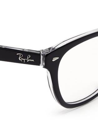 Detail View - Click To Enlarge - Ray-Ban - Two tone square cat eye optical glasses