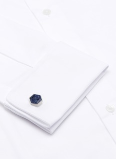 Lanvin Hexagon sodalite cufflinks