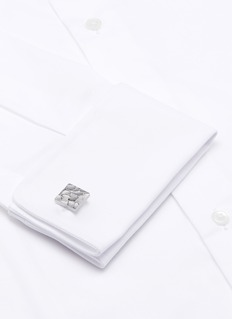 Lanvin Textured scale square cufflink