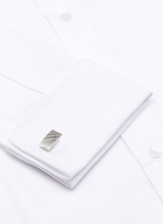 Lanvin Rectangle tile cufflink