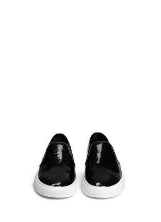 Tory Burch-'Lennon' patent leather skate slip-ons
