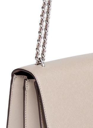 Detail View - Click To Enlarge - Tory Burch - 'Robinson' convertible saffiano leather chain bag