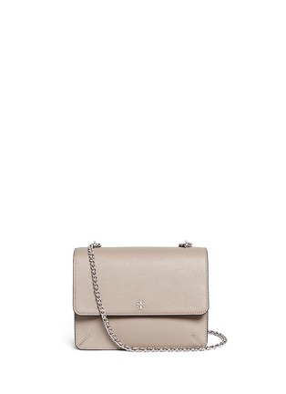 Main View - Click To Enlarge - Tory Burch - 'Robinson' convertible saffiano leather chain bag