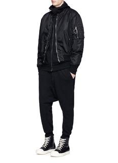 DRKSHDW by Rick OwensAsymmetric zip hoodie