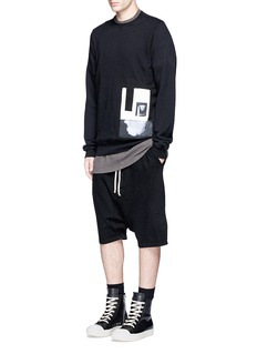 DRKSHDW by Rick Owens Stitch shoulder oversized cotton T-shirt